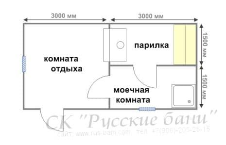 Проекты бани 3х4 из бруса бани 4х4 из