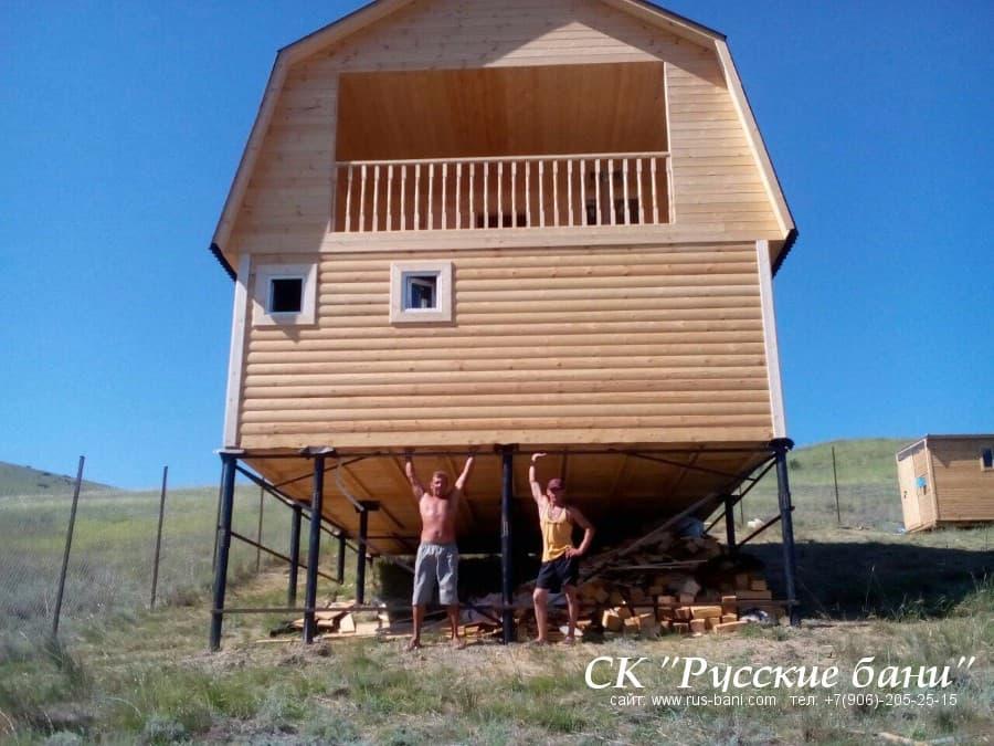 дом из бруса в крыму