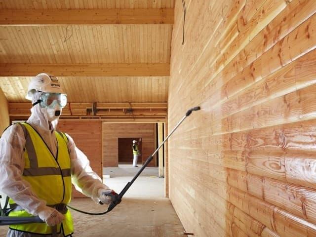 обработка стен бани для защиты