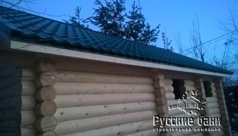 Баня из бревна на даче