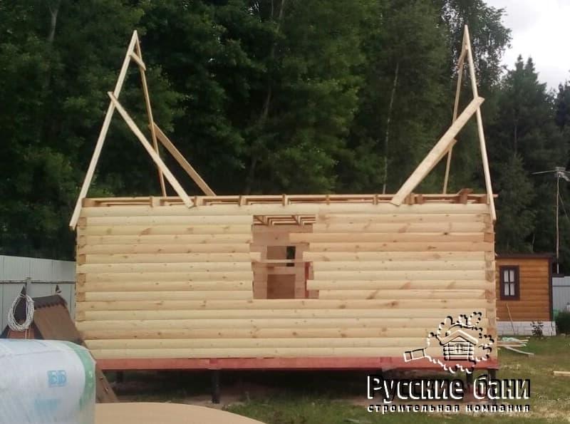 Фотоотчёт строительства бани с мансардой