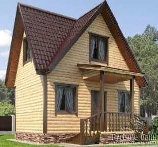 Дом из бруса 4х6 в три фронтона