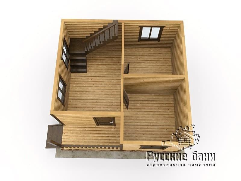 Дом 6х6 с балконом